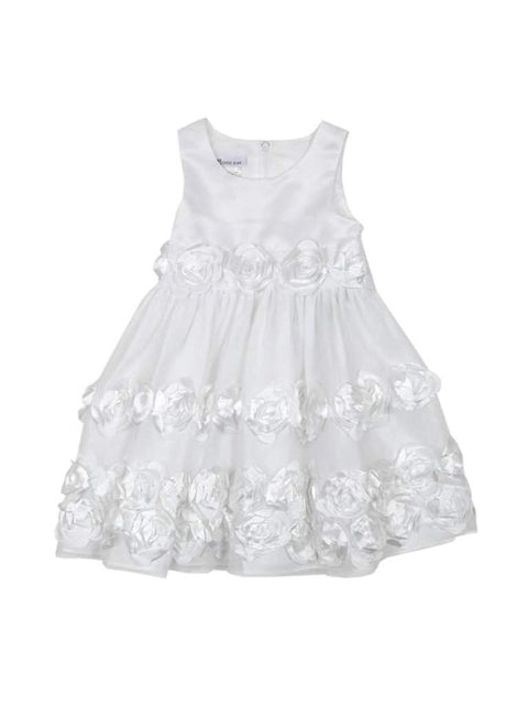 Bonnie Jean Girl's Toddler White Flower Dress by Bonnie Jean - My100Brands