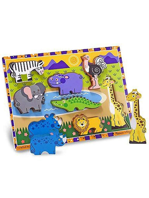 Safari Chunky Puzzle - 8 Pieces by Melissa & Doug - My100Brands