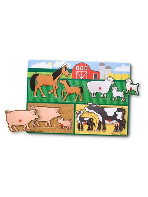 Farm Peg Puzzle - 8 Pieces by Melissa & Doug - My100Brands