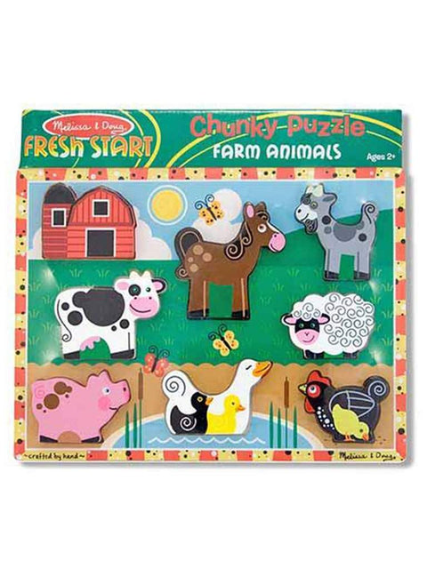 Farm Chunky Puzzle - 7 Pieces by Melissa & Doug - My100Brands