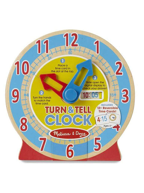 Turn and Tell Wooden Clock by Melissa & Doug - My100Brands