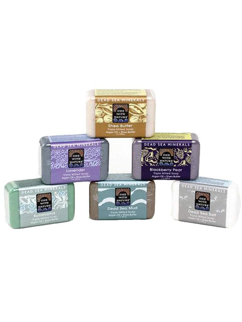 Dead Sea Minerals Soap 6-Pc Set by One With Nature - My100Brands