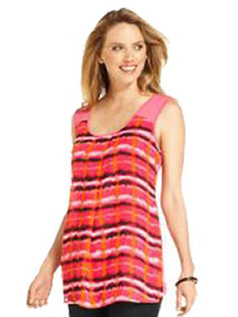 Joseph A Top, Sleeveless Striped Tank by Joseph A - My100Brands