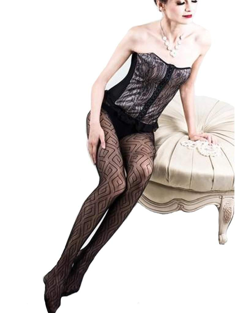 Lady's Diamond and Mazes Fishnet Tights by My100Brands - My100Brands