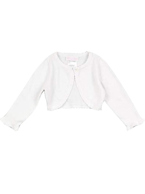Bonnie Baby Girl's Scallop Neck Bolero Sweater by Bonnie Baby - My100Brands