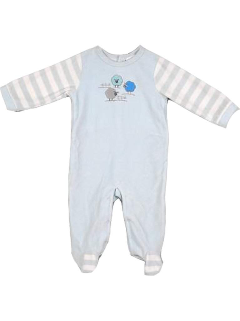 Absorba Velour Baby Boy Footed Bodysuit by Absorba - My100Brands