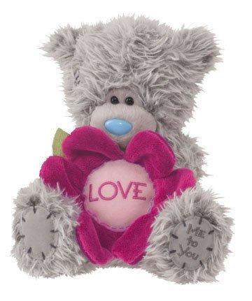 Douglas Cuddle Toys 6'' Plush Tatty Teddy Love Bear With Flower by Douglas Cuddle Toys - My100Brands