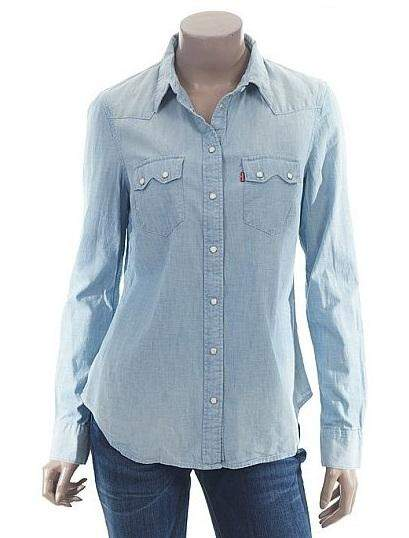 Levi's Women's Tailored Western Denim Shirt by Levi's - My100Brands