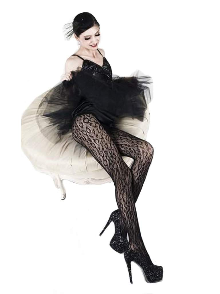 Lady's Wild Leopards Fishnet Tights by My100Brands - My100Brands