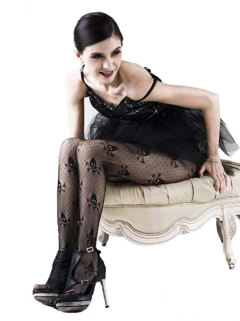 Lady's Pirate Skulls and X's Fishnet Tights by My100Brands - My100Brands