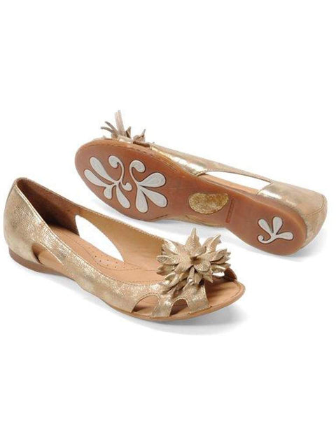 Born Crown Ginnifer Peep Toe Flat by Born Crown - My100Brands
