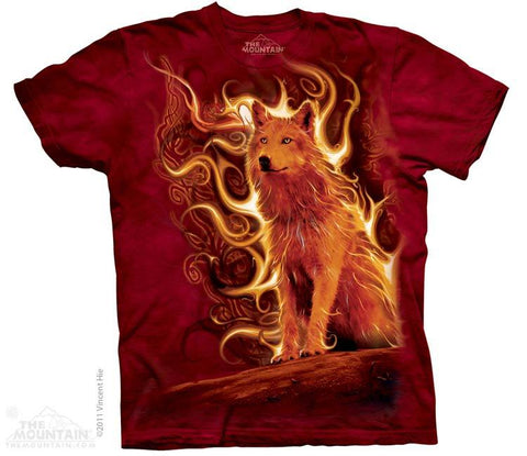 Phoenix Wolf T-Shirt by The Mountain - My100Brands