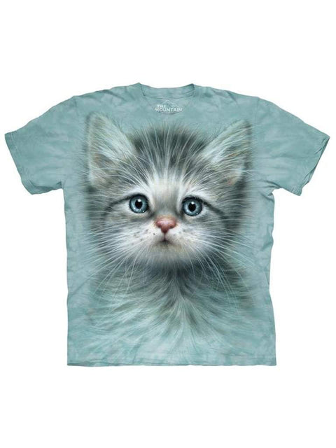 Blue Eyed Kitten T-Shirt by The Mountain - My100Brands