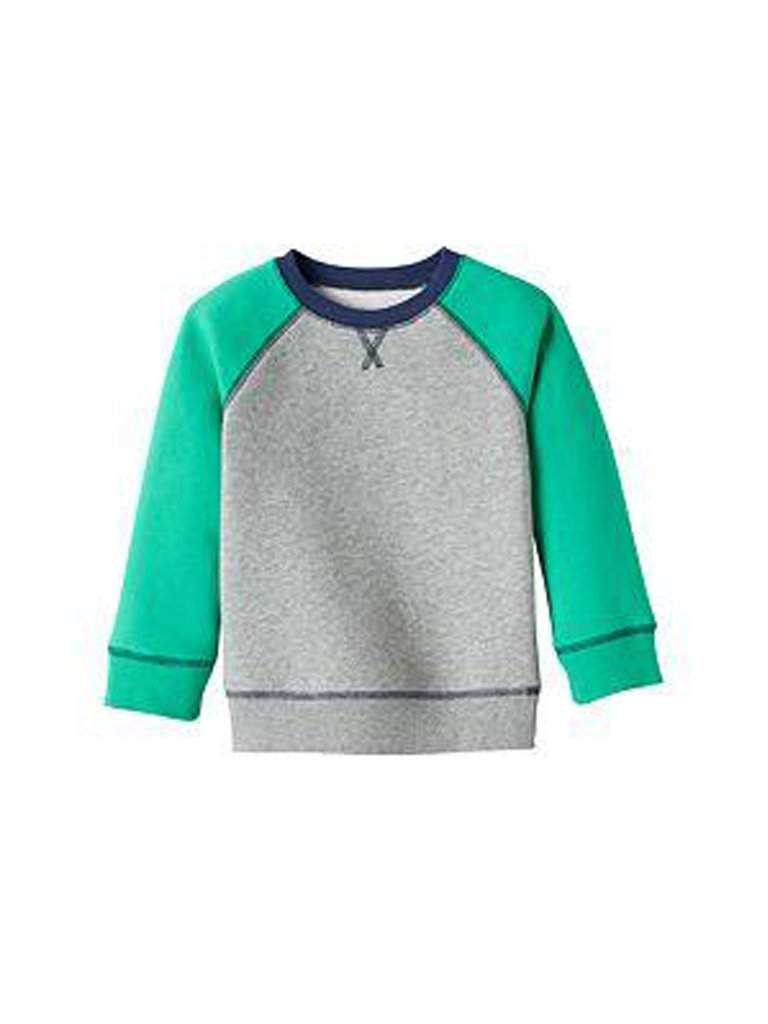 Boy's Colorblock Solid Fleece-Lined Pullover by My100Brands - My100Brands