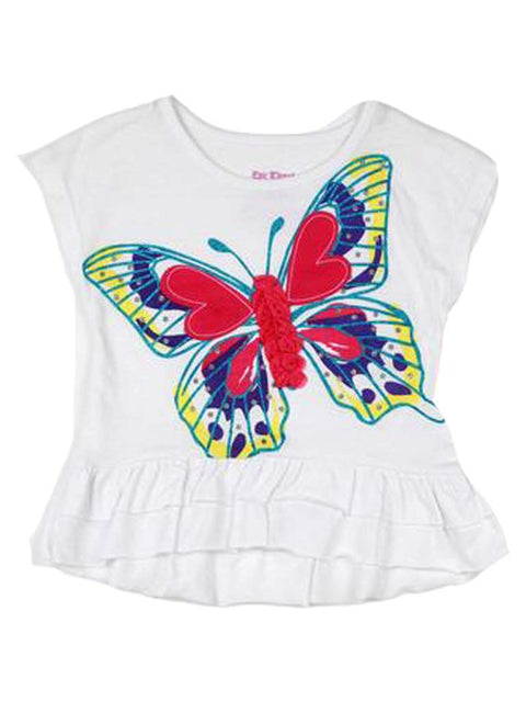 Butterfly Hi-Lo Ruffle Top by My100Brands - My100Brands