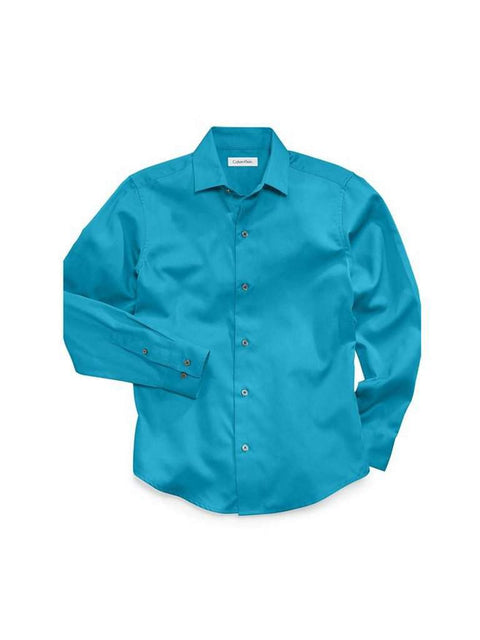 Calvin Klein Boy's Sateen Hanging Shirt by Calvin Klein - My100Brands