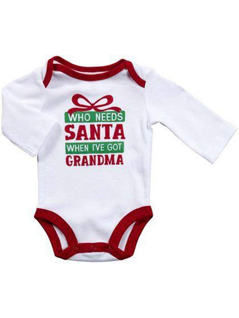 "Carter's ""Who Needs Santa when I've Got Grandma"" Bodysuit by Carters - My100Brands"