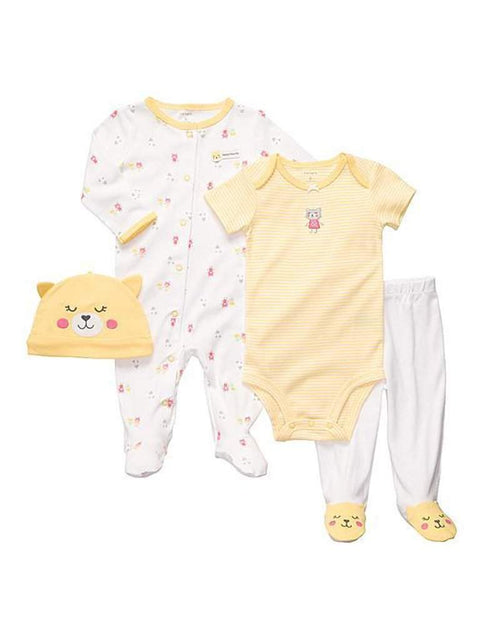 Carter's Girl's Kitty Pajama Layette 4-Pc Set by Carters - My100Brands