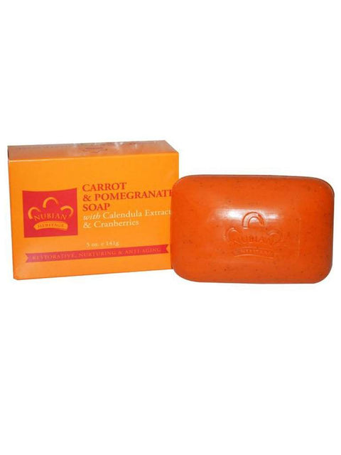 Carrot and Pomegranate Soap - 5 oz by Nubian Heritage - My100Brands