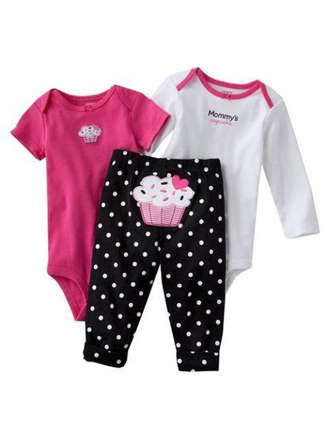 Carter's Cupcake Bodysuit 3-Pc Set by Carters - My100Brands