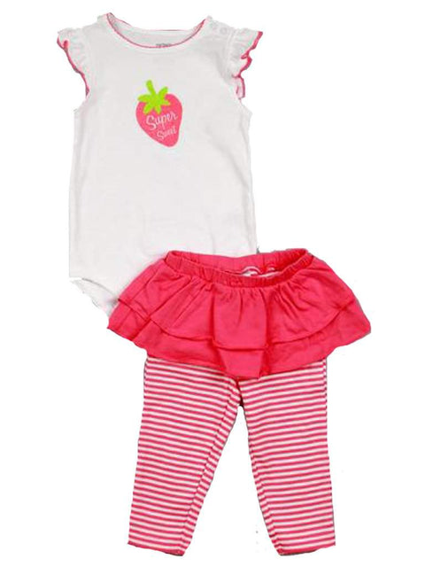 Carter's Strawberry Bodysuit Skirt Leggings 2-Pc Set by Carters - My100Brands