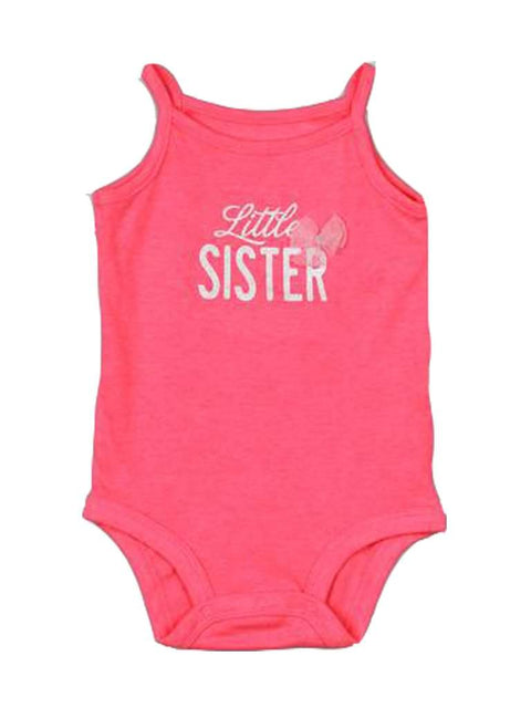 Carter's Baby Girl Pink Onesie Tank Top Bodysuit by Carters - My100Brands