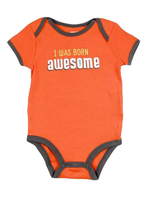 Carter's Baby Boy I Was Born Awesome Bodysuit by Carters - My100Brands