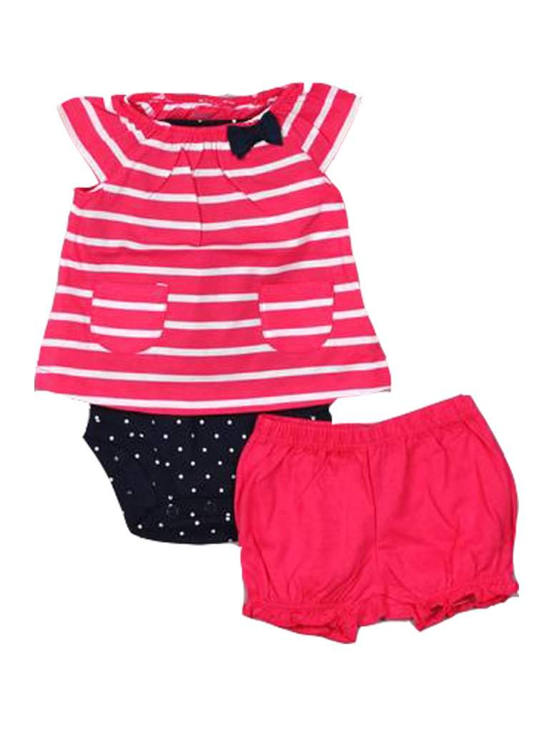 Carter's Baby Girl Bodysuit and Diaper Cover 3-Pc Set by Carters - My100Brands
