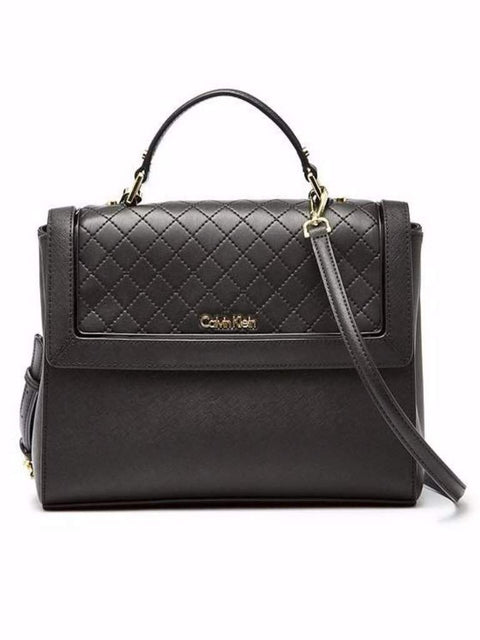 Calvin Klein Saffiano Top Handle Satchel by Calvin Klein - My100Brands