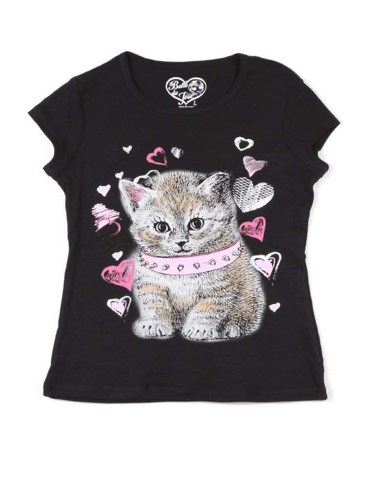 Belle Du Jour Cat Graphic Tee by Belle Du Jour - My100Brands