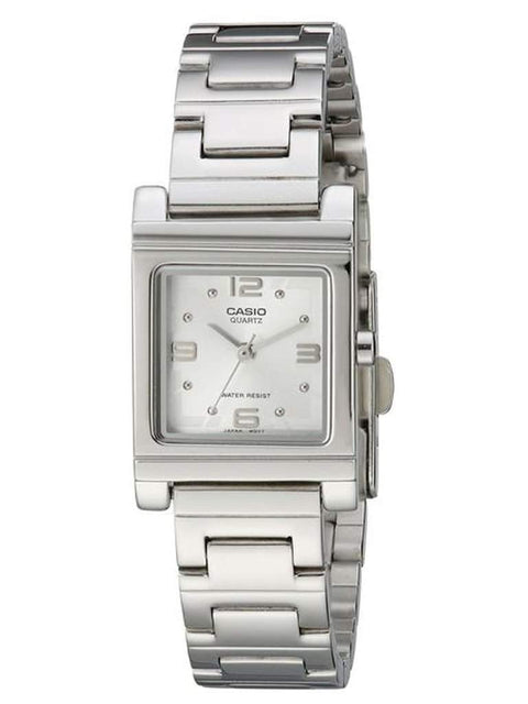 Casio Silver-Tone Shell White Dial Women's Watch by Casio - My100Brands