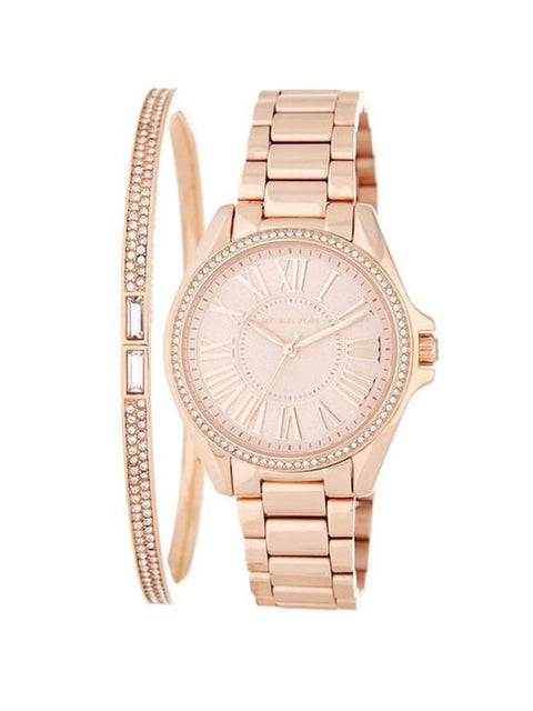 Michael Kors Women's Bracelet & Watch Set Rose Gold by Michael Kors - My100Brands