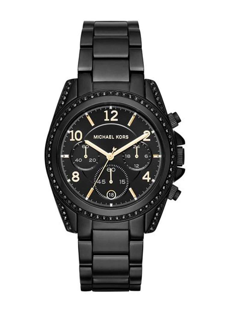 Michael Kors Women's Blair Black Dial Chronograph Watch by Michael Kors - My100Brands