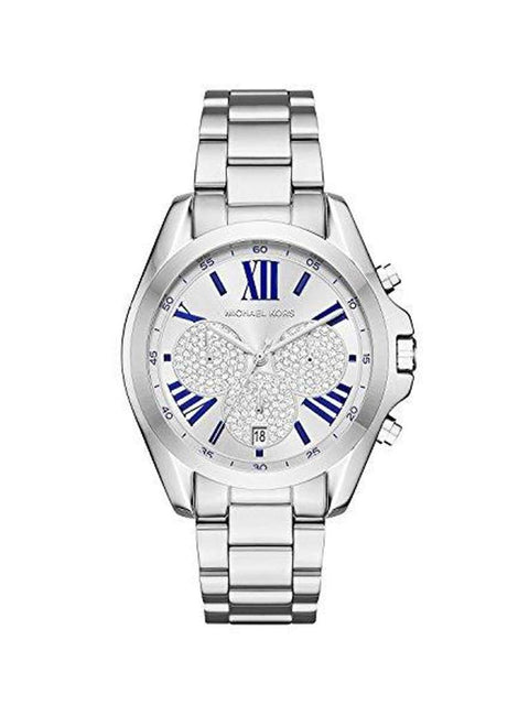 Michael Kors Women's Bradshaw Silver Stainless-Steel Quartz Watch by Michael Kors - My100Brands