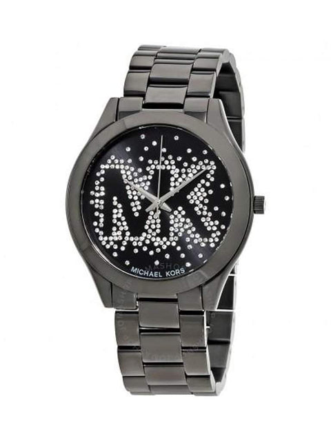 Michael Kors Slim Runway Black Dial Ladies Watch by Michael Kors - My100Brands
