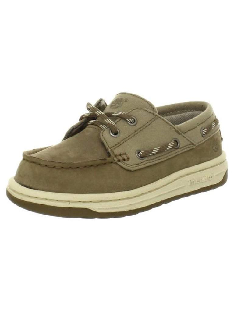 Timberland Kids Ryan Springs Leather-and-Fabric Boat Shoe by Timberland - My100Brands