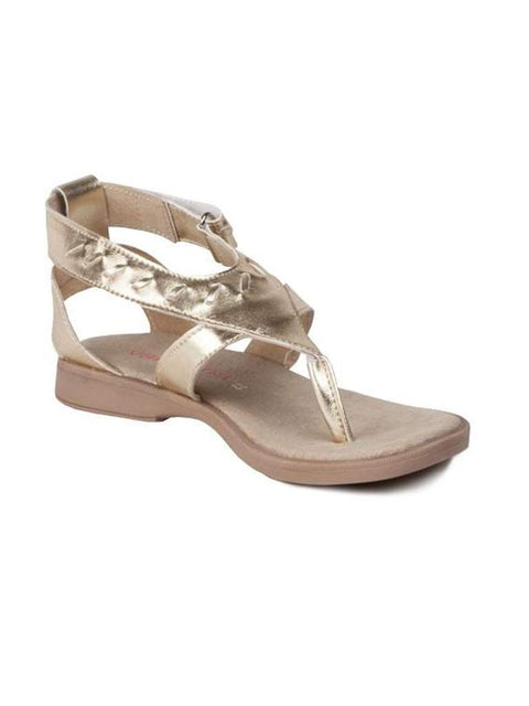 Valentina Jacqueline Girls' Gold Sandals by Valentina - My100Brands