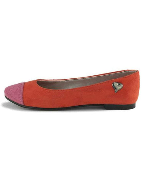 Valentina Madelynn Girls' Fuchsia and Tangerine Ballet Flats by Valentina - My100Brands