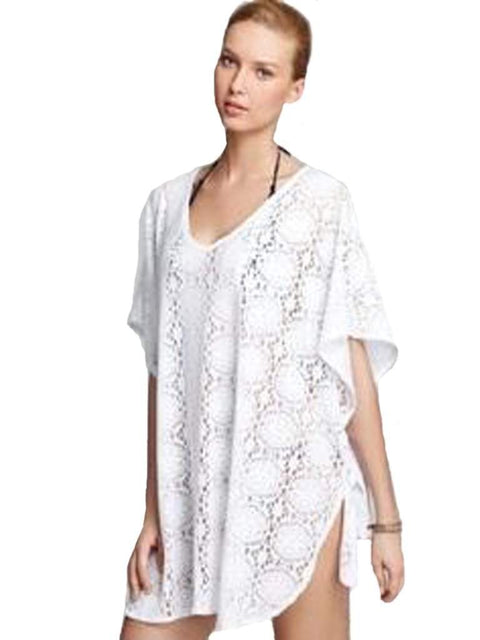 J. Valdi Medallion Crochet Side Tie Swimsuit Cover Up by J. Valdi - My100Brands