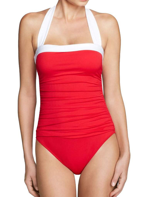 Ralph Lauren Bel Aire Solids Shirred Mio One Piece Swimsuit by Ralph Lauren - My100Brands