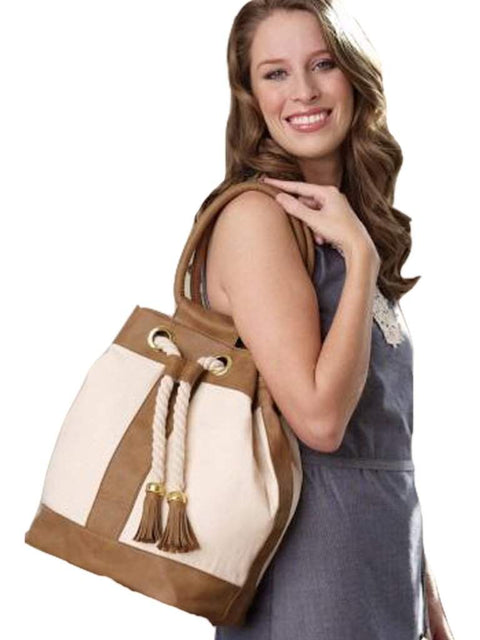 Mud Pie Natural Canvas Rope Tote by Mud Pie - My100Brands