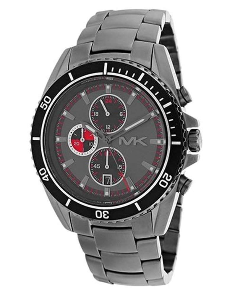 Michael Kors Men's Lansing Chrono Stainless Steel Gunmetal Dial Watch by Michael Kors - My100Brands