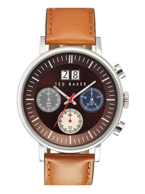 Ted Baker London Chronograph Leather Strap Men's Watch by Ted Baker London - My100Brands