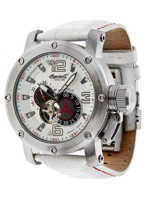Ingersoll Bison No 26 White Dial Stainless Automatic Men's Watch by My100Brands - My100Brands
