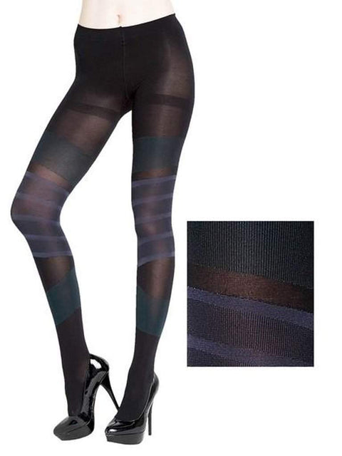 Lady's 8 Stripes Circular Design Fashion Tights by My100Brands - My100Brands