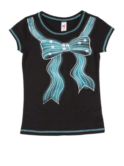Beautees Girl's Bow Tee by Beautees - My100Brands