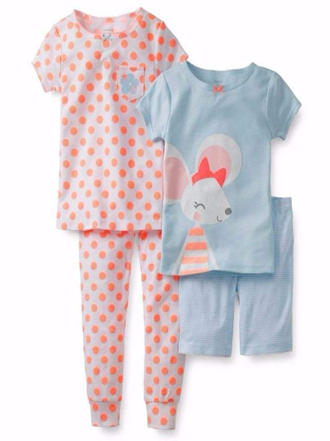 Carter's Mouse Cotton Pajama 4-Pc Set by Carters - My100Brands