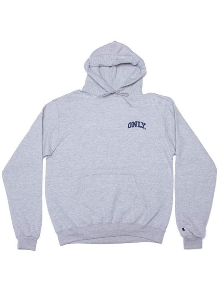 Only NY X Champion Varsity Hoodie - Heather Grey by Champion - My100Brands