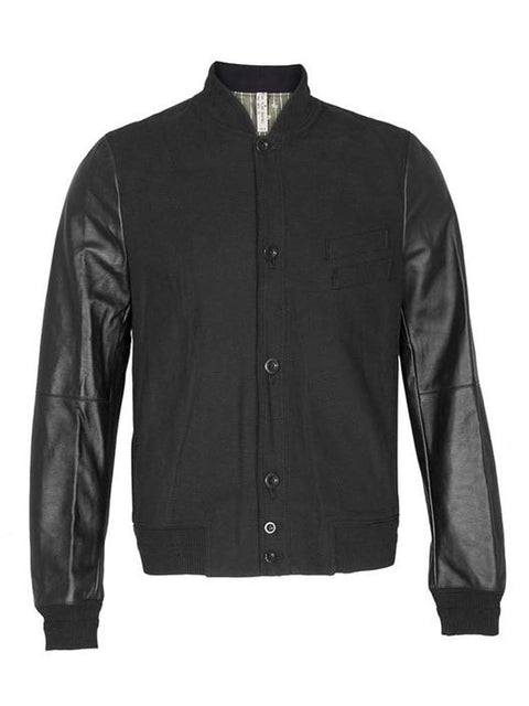 Paul Smith Leather Sleeve Bomber Jacket by My100Brands - My100Brands