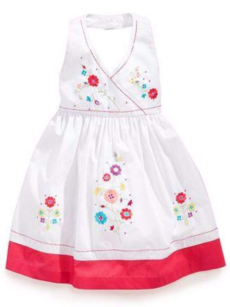 Blueberi Boulevard Girl's Embroidered Flower Sundress by Blueberi Boulevard - My100Brands